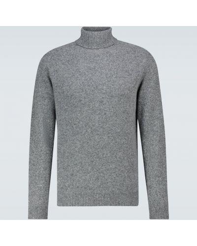 С рукавами шерстяной свитер Sunspel