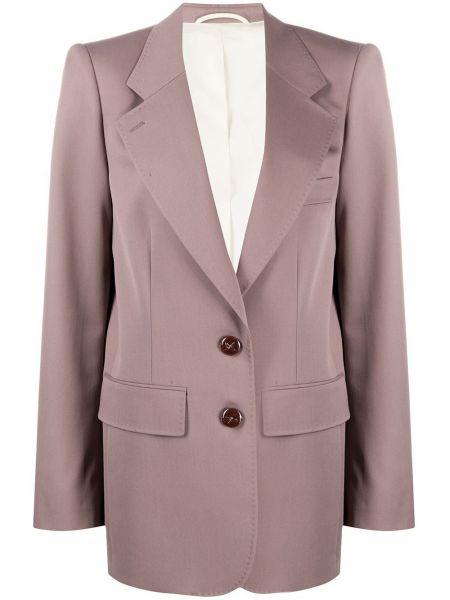 Серый пиджак оверсайз с карманами Lemaire