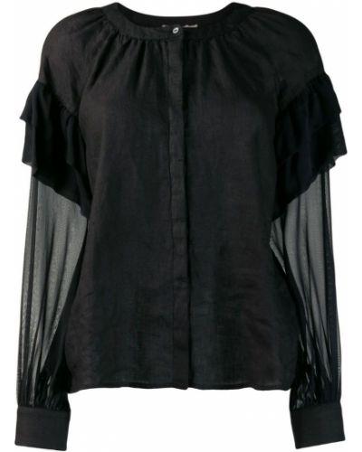 Льняная блузка - черная 120% Lino