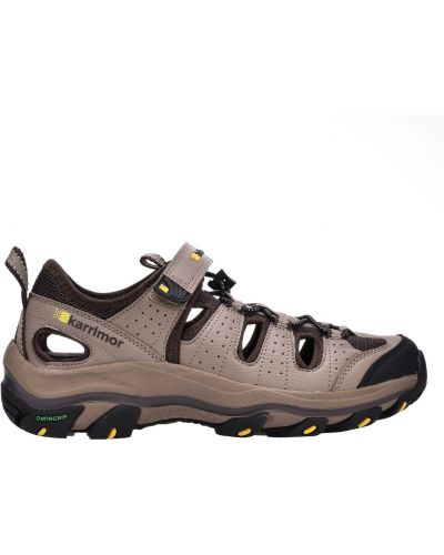 Beżowe sandały trekkingowe na rzepy Karrimor