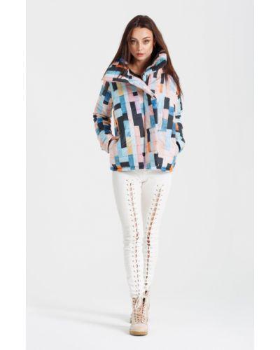 Утепленная куртка с карманами с запахом Naoko