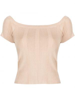 Топ с открытыми плечами - коричневый L'agence