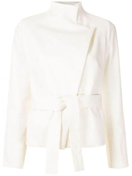 Хлопковый удлиненный пиджак с поясом с воротником Egrey