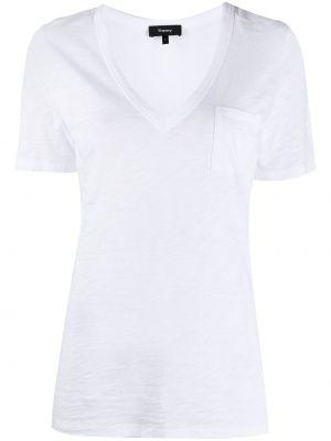 Хлопковая белая рубашка с короткими рукавами Theory