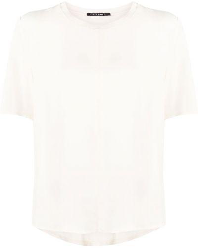 Шелковая с рукавами футболка с вырезом Luisa Cerano