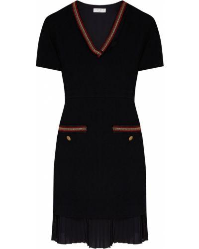 Платье мини с декольте с бахромой Sandro