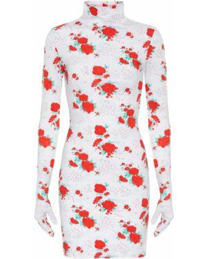 Платье мини с цветочным принтом вязаное Vetements