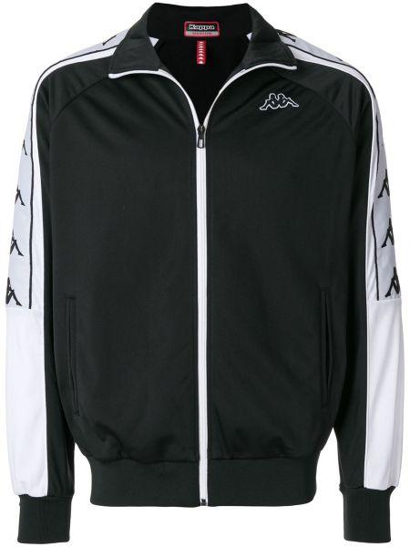 Спортивная куртка черная с логотипом Kappa