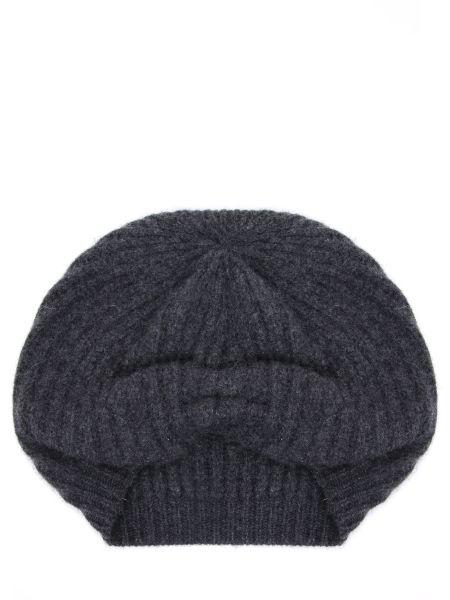 Вязаная кашемировая серая шапка Gentryportofino