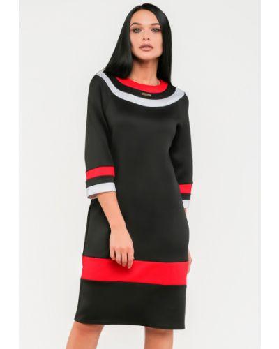 Трикотажное черное платье Modniy Oazis