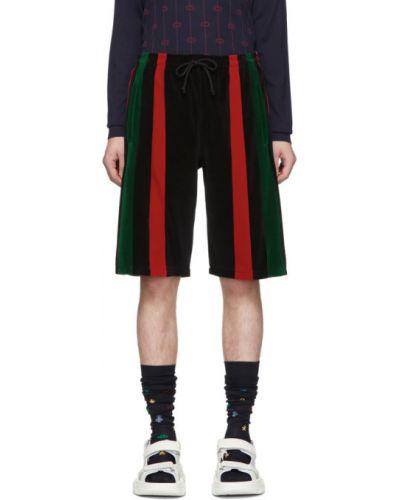 Krótkie szorty z kieszeniami na gumce Gucci