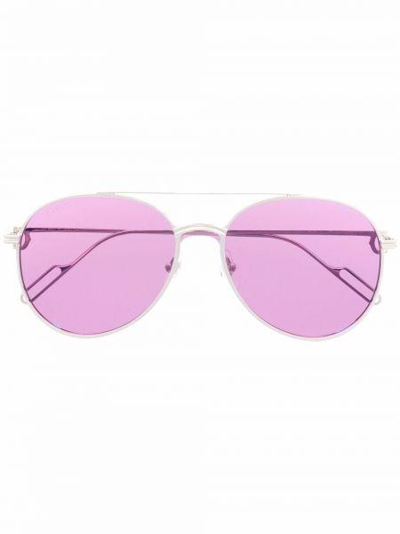 Okulary srebrne - fioletowe Cartier Eyewear