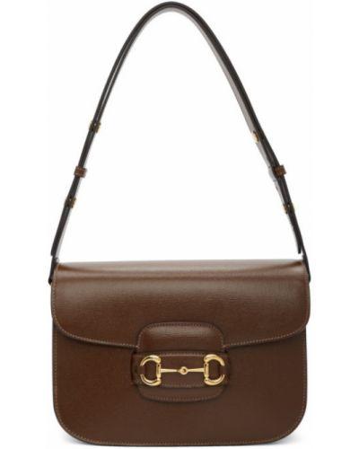 Skórzany czarny skórzana torebka z kieszeniami z łatami Gucci