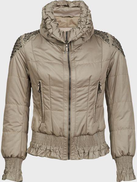 Серая куртка на молнии с подкладкой Gallotti