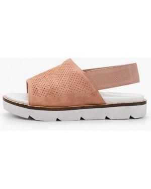 Велюровые розовые сандалии Thomas Munz
