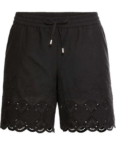 Кружевные шорты - черные Bonprix