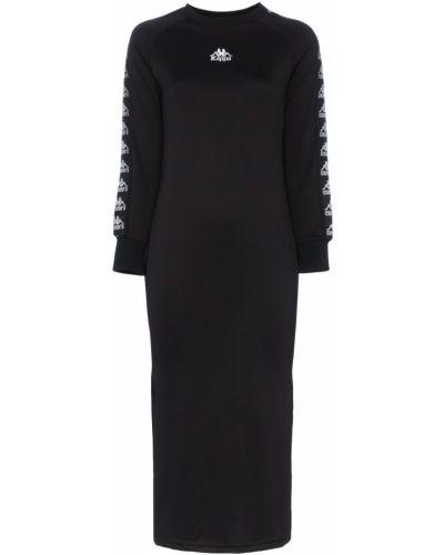 Трикотажное платье миди - черное Charm`s