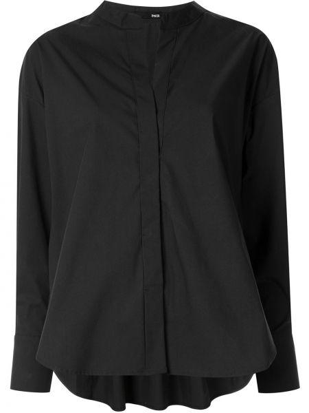 Свободная однобортная черная рубашка с воротником Frei Ea