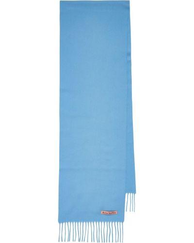 Шерстяной шарф - синий Acne Studios
