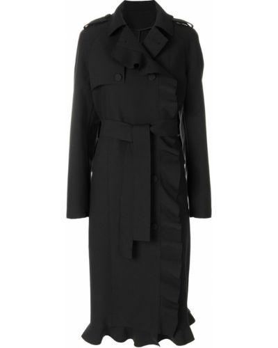 Длинное пальто двубортное классическое до колен Msgm