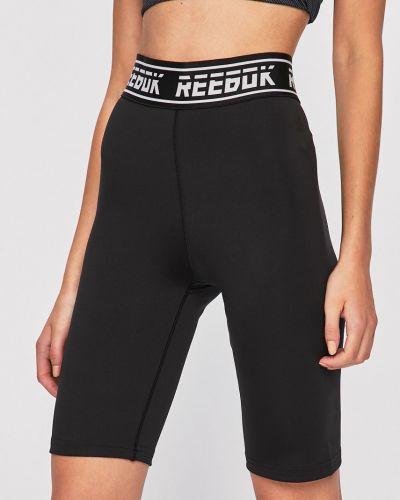 Спортивные шорты с завышенной талией черные Reebok