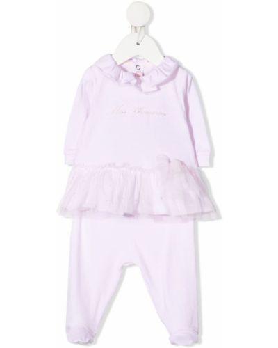 Костюмный хлопковый розовый спортивный костюм Miss Blumarine