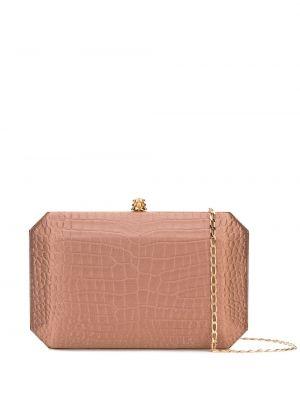 Золотистая коричневая шелковая сумка на цепочке с карманами Tyler Ellis