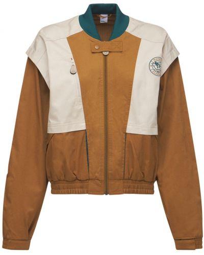 Куртка с карманами - коричневая Reebok Classics