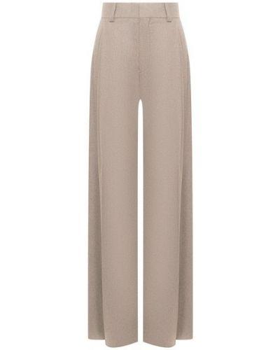 Шерстяные бежевые брюки Chloé