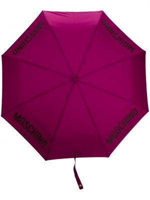 Зонт с логотипом - фиолетовый Moschino