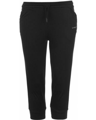 Prążkowane czarne szorty bawełniane La Gear