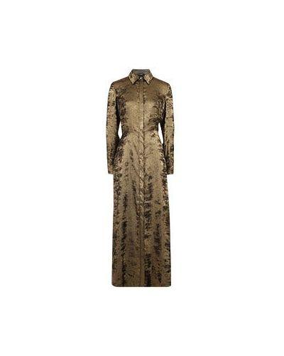 Повседневное платье золотое из вискозы Vuall