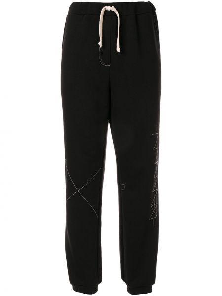 Черные брюки с манжетами Ruban
