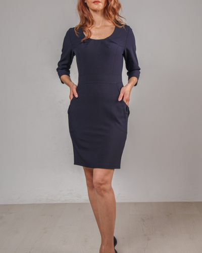 Прямое приталенное платье-футляр на молнии с карманами Lila Classic Style