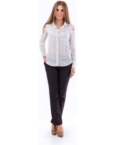 Флисовые брюки - серые Liza Fashion