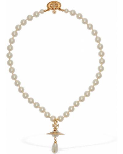 Złoty choker perły Vivienne Westwood