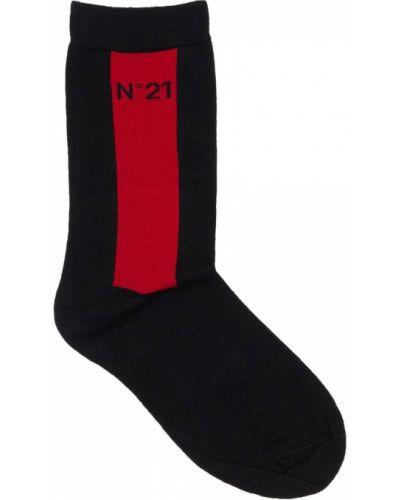 Ватные черные хлопковые носки N°21