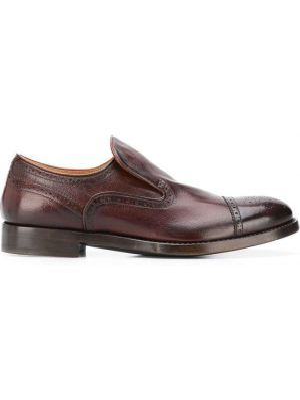 Klasyczne brązowe loafers skorzane Alberto Fasciani
