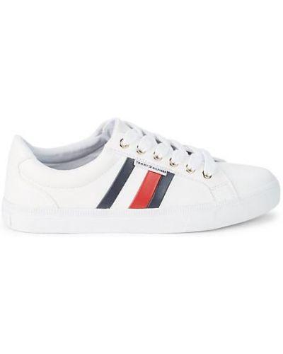 Кружевные белые кроссовки на шнурках Tommy Hilfiger