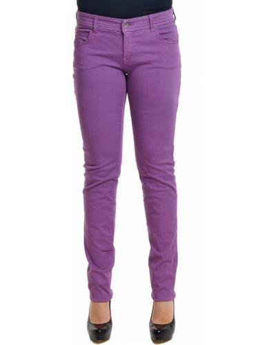 Хлопковые джинсы - фиолетовые Armani Collezioni