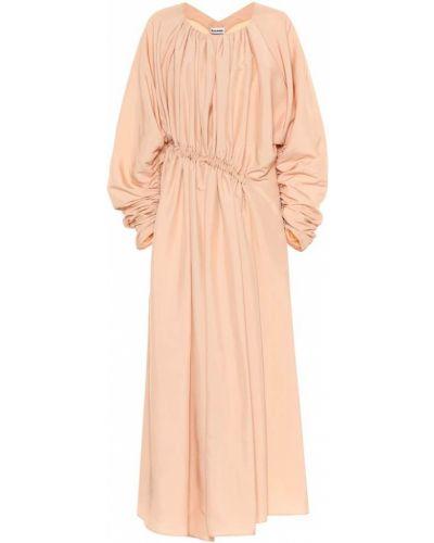 Платье миди розовое персиковое Jil Sander