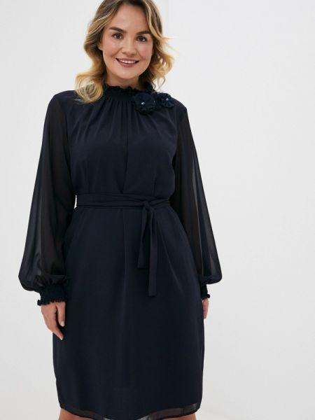 Синее повседневное платье Vera Moni