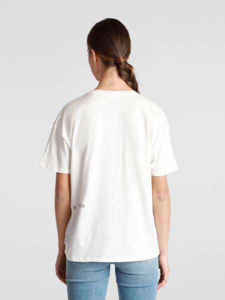 Хлопковая белая футболка с вырезом Marc O'polo Denim