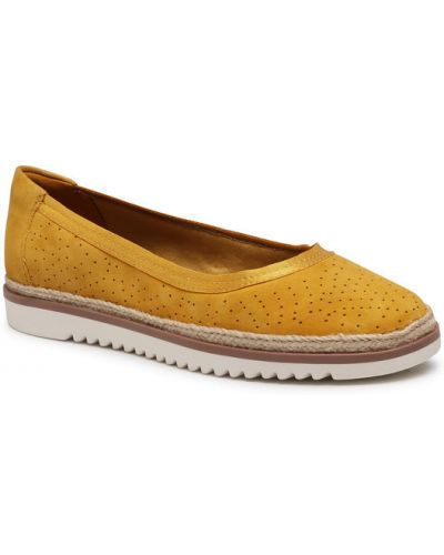 Espadryle - żółte Clarks