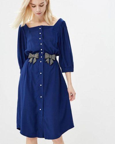 Синее платье с длинными рукавами Sister Jane