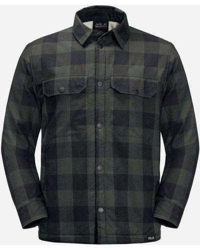 Теплая рубашка - зеленая Jack Wolfskin