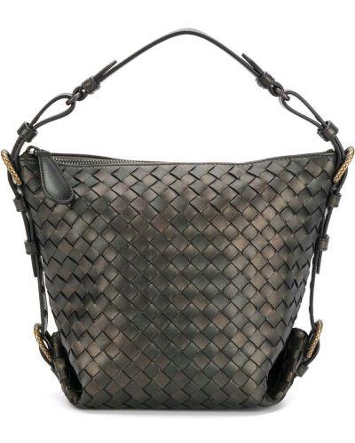 Черная кожаная сумка Bottega Veneta