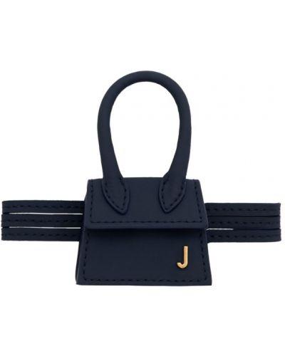 Skórzana torebka z uchwytem z klapką Jacquemus