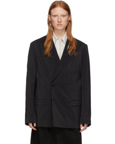 Пиджак черный в полоску Lemaire