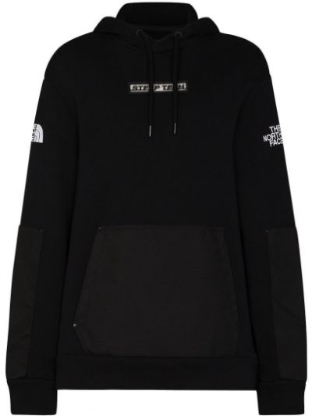 Czarna bluza z kapturem z haftem The North Face Black Series